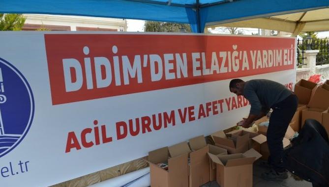 Didim'de Depremzedelere yardım